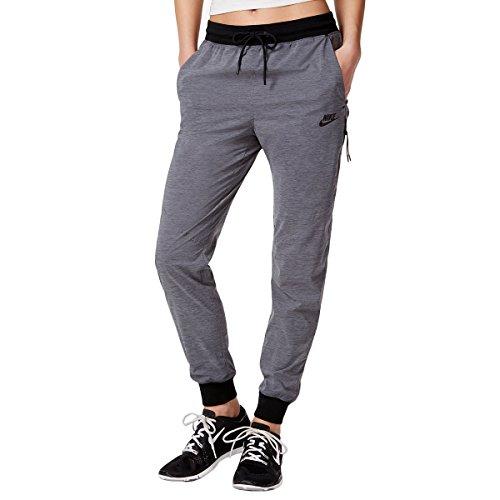 Nike Women's Bonded Woven Pants Anthracite Black, (Medium)