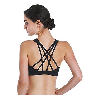 Zida Women's Sports Bra High Impact Active Wear Strappy Yoga Bra