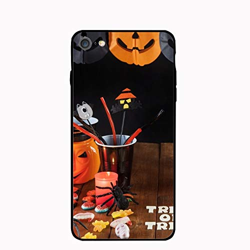 Phone 7 and Phone 8 Case,Personalized Halloween Treat Floral Print PC Cellphone -