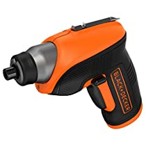 Black and Decker CS3652LC - Atornillador a batería, 3.6 V, color negro y naranja