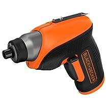 Black and Decker CS3652LC - Atornillador a batería, 3.6 V, color negro y naranja