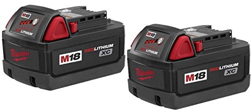 Milwaukee 48-11-1828 M18 XC RED LITHIUM 18-Volt Lithium-ion Cordless Tool Battery ( 2 pack ) by Milwaukee