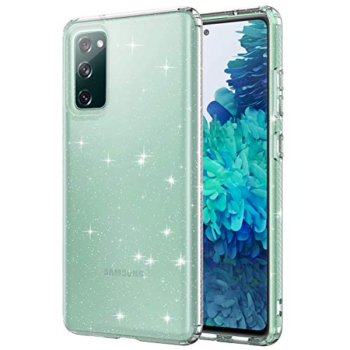 WHOBEE Glitter Clear Case for Galaxy S20 FE 5G 2020, Bling Sparkly Shiny Soft TPU Slim Fit Drop Protection Rugged…