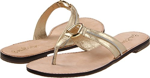 Lilly Pulitzer Women's McKim Sandal Gold Metal Sandal