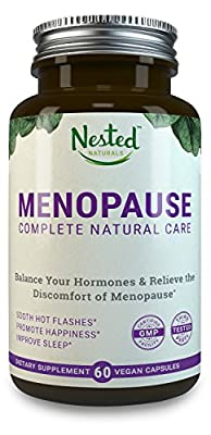 MENOPAUSE COMPLETE NATURAL CARE | Black Cohosh 40 mg, Dong Quai (Angelica Root), Chamomile, Milk Thistle - Relieve Hot Flashes, Anxiety, Sleeplessness, Inflammation | Non-GMO, Vegan