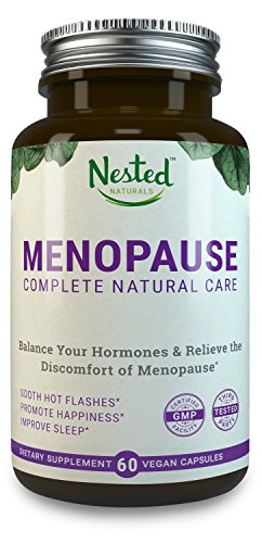 MENOPAUSE COMPLETE | 60 Vegan Capsules | Natural Herbal Complex: Black Cohosh Extract 40mg & Dong Quai Root | Help Menopausal Hot Flashes | One A Day Supplements | Hot Flash Relief & Support for Women