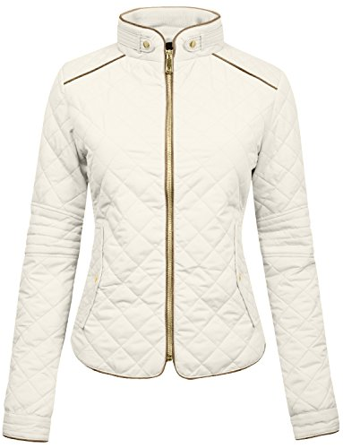 white quilted jacket - 2