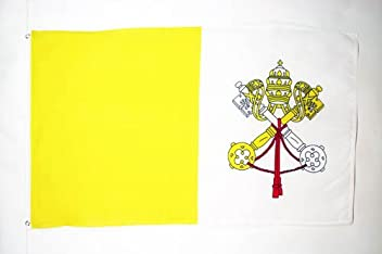 Piccola BANDIERINA GONFALONE BAUSSANT 14 x 21 cm AZ FLAG Bandiera da Tavolo Templari Ordine del Tempio 21x14cm