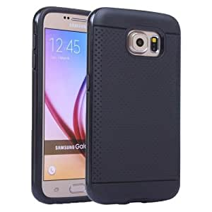 PC Frame TPU Back Cover Thin Protective Case for Samsung Galaxy S6 / G920 (Black)