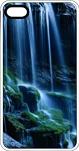 Waterfall Over Rocks White Rubber Case for iPhone 4 or iPhone 4s