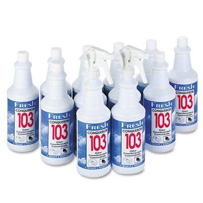 103 Odor Counteractant Concentrate Lemon (FRS1232WBLE Conqueror 103 Odor Counteractant Concentrate, Lemon, 32 oz Bottle)