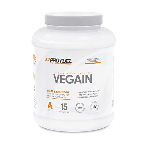 PROFUEL® Vegain Lean Mass Gainer VANILLE │ Weight Gainer für die Gewichtszunahme und Aufbau von Muskelmasse durch eine Innovative Formel │ OHNE Maltodextrin │ 2kg Pulver Vegan