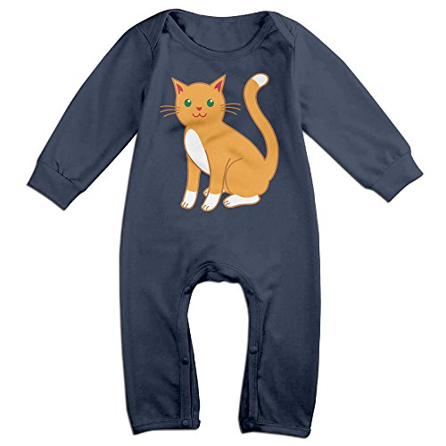 [VanillaBubble Cat Design For 6-24 Months Infant Fashion T Shirt Navy Size 18 Months] (Audrey Hepburn Costume Singapore)