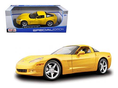 2005 Chevrolet Corvette C6 Coupe Yellow Special Edtion 1/18 Diecast Model Car by Maisto 31117y Chevrolet Corvette C6 Coupe