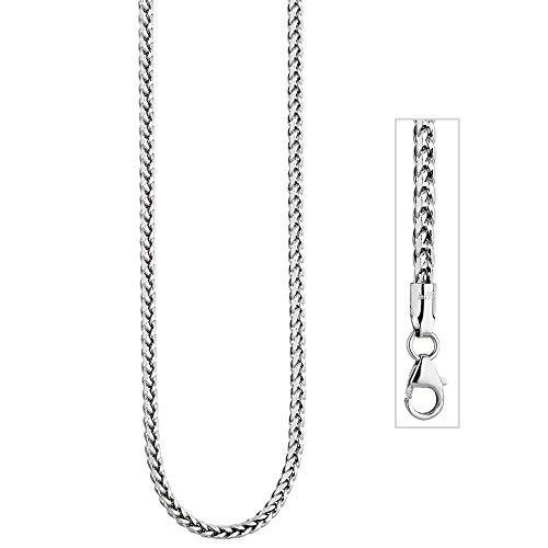 Jobo Chaîne à maillons en or blanc 5852,3mm 45cm Chaîne Collier Or blanc chaîne mousqueton