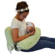 The 4 in 1 NEW One Z GREEN Nursing Pillow w/ AMAZING BACK SUPPORT- LIGHT GREEN Cover!