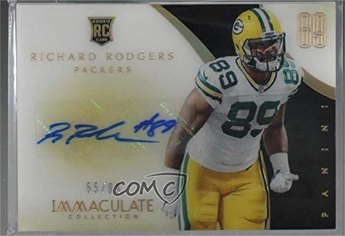 Richard Rodgers #55/89 (Football Card) 2014 Panini Immaculate Collection - Immaculate Numbers Rookies Acetate Autographs #175 ()