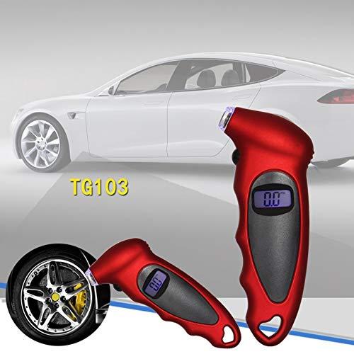 Panamami Streamline Design LCD Screen Display Digital Tire Pressure Gauge Portable Tire Pressure Gauge Meter Tool for Auto Car