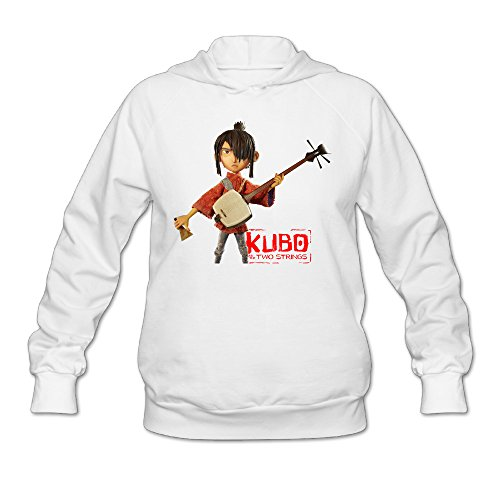 SAMMOI Kubo And The Two Strings Women's Soft Long Sleeve Hoodie L White