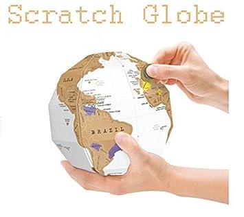 Amazon jidetech diy creative world map globe explore scratch jidetech diy creative world map globe explore scratch off travel diy scratch assemble gumiabroncs Image collections