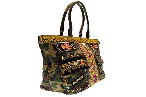 SHOP ART borse donna a spalla 10226 Militare Buena Venta Barata QdFTebt9k