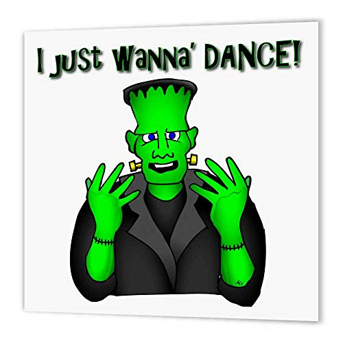 3dRose ht_24086_2 Frankenstein Dance I Just Wanna Dance 1 on Transparent-Iron on Heat Transfer Paper for White Material, 6 by 6-Inch