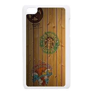 iPod Touch 4 Case White Bape Bar Wood L5I7RW