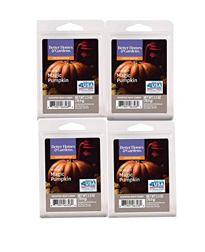Pumpkin Home Fragrance - Better Homes and Gardens Limited Edition-Moonlit Magic Pumpkin Scented Wax Cubes 4-Pack