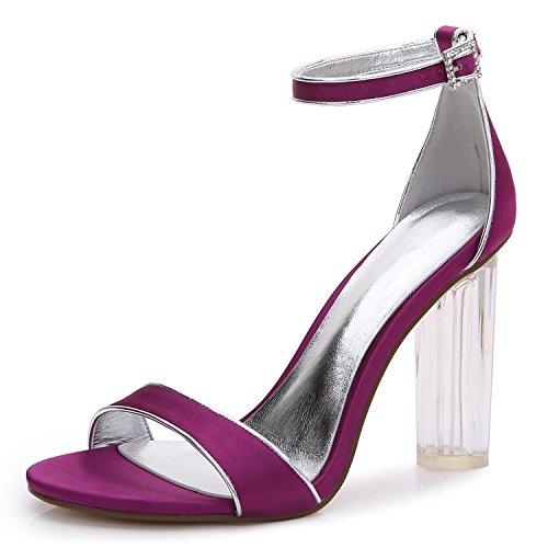 Dimensioni Sposa Tacchi E Professionali 2615 Purple Sera S Da Misura Di Grandi 14 L Crystal Scarpe Su Piattaforma Donna yc Ruvida C6qPF7tT