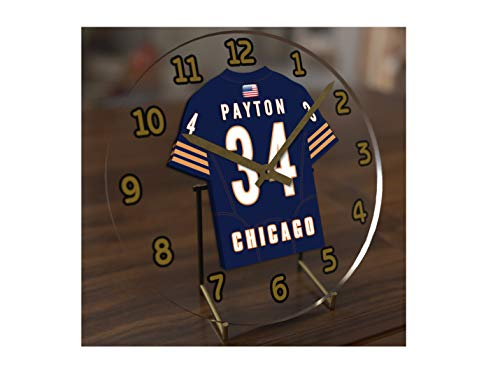 FanPlastic Walter Payton 34 Chicago Bears Desktop Clock - National Football League Legends Edition !!