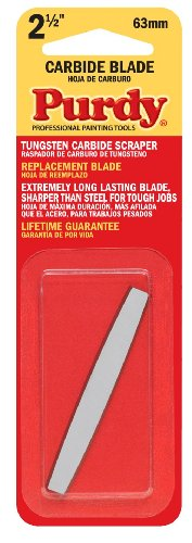 Purdy 144900235 Surface Prep Tool Premium Carbide Scraper Replacement Blades, 2-1/2 inch ()