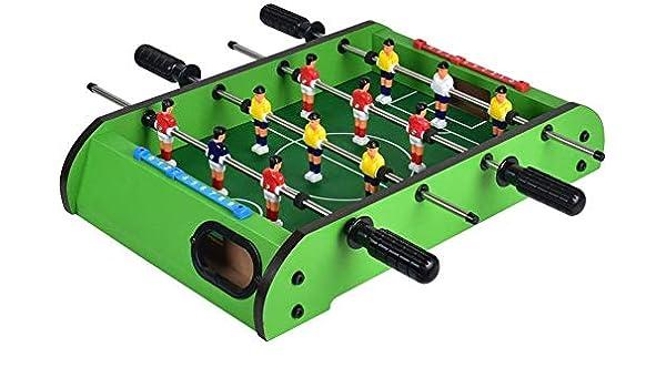 YUHT Futbolín Infantil,Mesa Plegable de fútbol, Compacto Mini Juego de fútbol Mesa de los Adultos y los niños del tamaño de Ocio Futbolín 49x31x9 Cm: Amazon.es: Deportes y aire libre