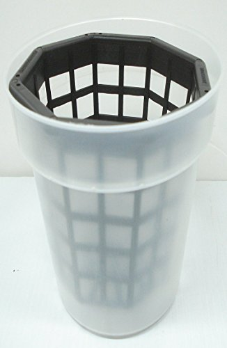 Orchid - 6 1/2 inch Clear Plastic Pot & 6 inch Basket