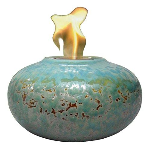 - OutDoozie Isador Ceramic Marble Gel Burner, Turquoise
