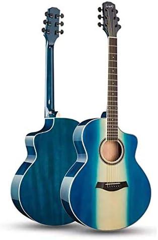 クラシックギター アコースティックギター41インチの初心者の学生の練習ギターナチュラルウッドギター6弦 女の子と男の子のギター (Color : B, Size : 41 inch)