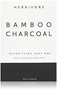 Herbivore Botanicals - All Natural Bamboo Charcoal Face/Body Cleansing Soap Bar