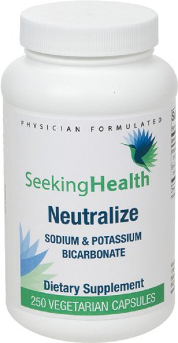 Sodium Bicarbonate Potassium (Neutralize | Provides Sodium & Potassium Bicarbonate | 250 Easy-To-Swallow Vegetarian Capsules | Free of Common Allergens | Physician-Formulated | Seeking)