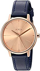 Nixon Women's A1082160-00 Kensington Leather Analog Display Japanese Quartz Blue Watch
