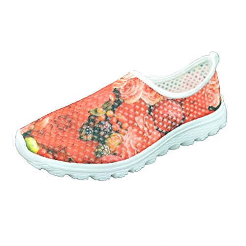 FOR Shoes Red Stylish U Convenient 2 Mesh Lightweight Running Sneaker For Women DESIGNS aa8xpr