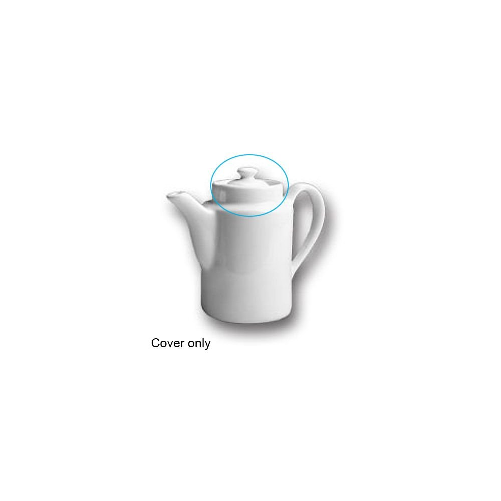 Hall China 51 1/2-C-WH Cover for White 12 Oz. Coffee Pot - 12 / CS by Hall China