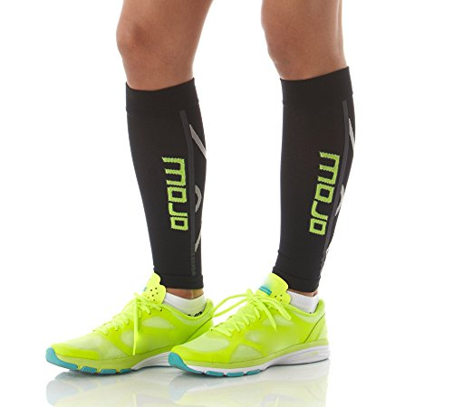 b506eec53c Mojo Graduated Compression Calf Sleeve for Men and Women's - Helps Shin  Splints, Best Leg Sleeves for Running (XL, Black) - Buy Online in Oman.