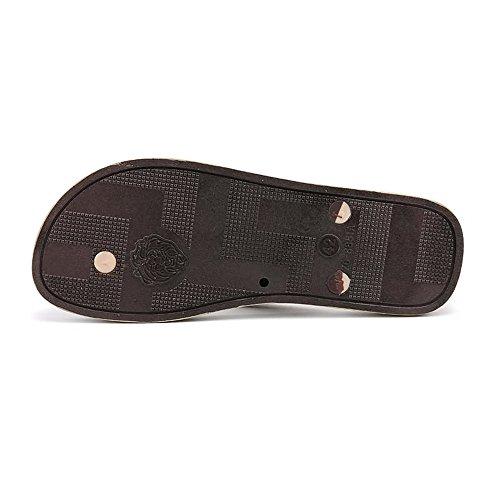 Infradito uomo donna per uomo da Fangs 2018 sandali gomma Scarpe in e Marrone qnwzx4X8Px
