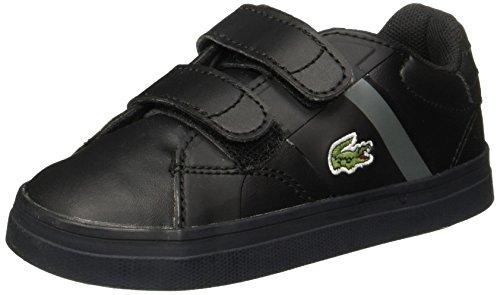 Lacoste Fairlead 316 1 732SPI0110024 Zapatos de Primeros Pasos para Bebé, Unisex, Color Negro, 9