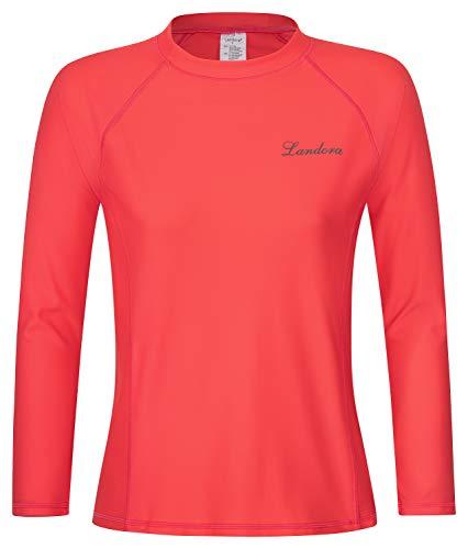 Landora®: Damen UV-Shirt mit UV-Schutz 50+ und Oeko-Tex 100 Zertifizierung in Koralle oder türkis