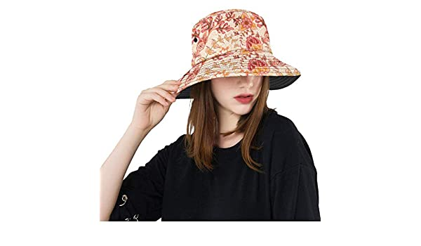 Persian Style Ethnic Summer Unisex Fishing Sun Top Bucket Hats for Kid Teens Women and Men with Packable Fisherman Cap for Outdoor Baseball Sport Picnic