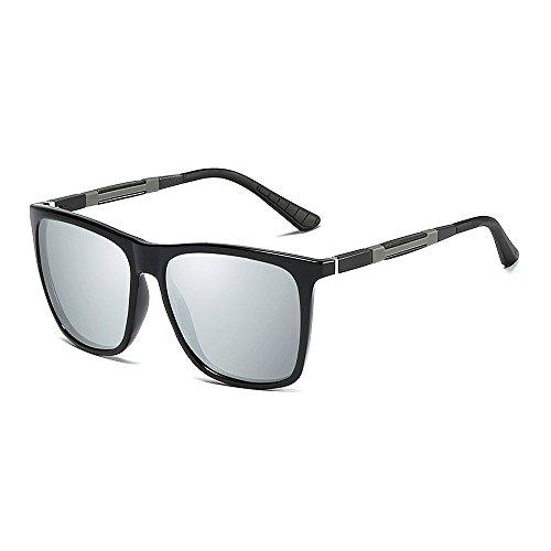 de Lens UV400 Marco Polarizadas Black Frame de y Hombres Mg VeBrellen Metal para Gafas Protección Al Mujer Silver Sol VS001 qSwxHgE