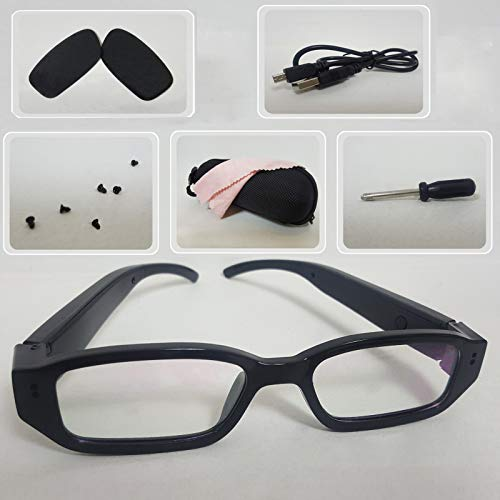 2019 Upgraded 1080p Glasses with Camera-16GB Micro SD Card Included with Prescription Sunglasses Lens For Christma (Best New Gadgets Of 2019)