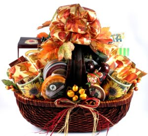 Stunning Basket, Special Fall Gourmet Gift by Organic Stores