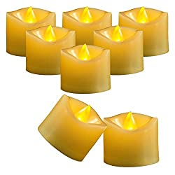 "Flameless Battery Operated Tea Lights, Amagic Small Electric Tealight, LED Plastic Candle for Holiday & Home Decoration,""1.4 x 1.3"""