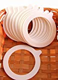 JAR RUBBER SEAL RINGS 92/68mm (10pcs) – White Jar Replacement Seals for Preserve